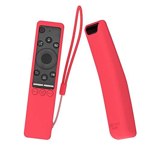 MOSHOU Ajustado Adapta Mando Funda de Silicona Compatible con Samsung UHD 4K Smart TV Bluetooth Remote Control RMCSPR1BP1 / BN59-01312A Anti-caída Carcasa a Prueba de Golpes Cubierta (Rojo)