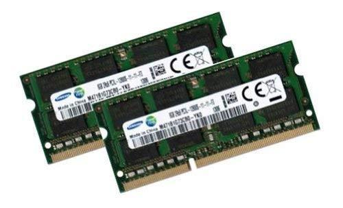 Samsung 16GB Dual Channel Kit 2 x 8 GB 204 pin DDR3L 1600 SO-DIMM (1600Mhz, PC3L-12800S, CL11, 1.35V/Low Voltage) - Apple ID 0x80CE