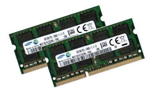 Samsung 16GB Dual Channel Kit 2 x 8 GB 204 pin DDR3L 1600 SO-DIMM (1600Mhz, PC3L-12800S, CL11, 1.35V/Low Voltage) - Apple ID 0x80CE