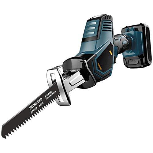 XDXDO Sierra De Sable Sin Cable con 2 Baterías, Mini Sierra De Sable Portátil De 18V con 20 Hojas Y Caja De Almacenamiento, 3200RPM, Carrera De 15Mm, Adecuada para Cortar Metal Madera