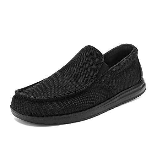 Bruno Marc Men's All Black Slip On Loafer Walking Shoes Stretch Sneakers SUNVENT-01 Size 8.5 M US