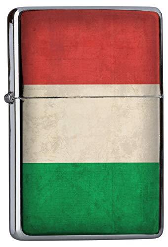 Cromato Accendino Benzina Viaggio Mondo Italia bandiera Ricaricabile