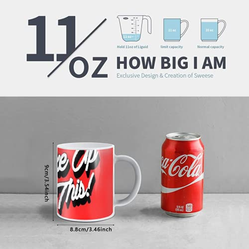 """Taza que cambia de color Taza de café mágica,typo play in vector positive quote or slogan colorful mood brushed technic """" i woke up lik,tazas grandes personalizadas Taza de decoloración 11 onzas"""