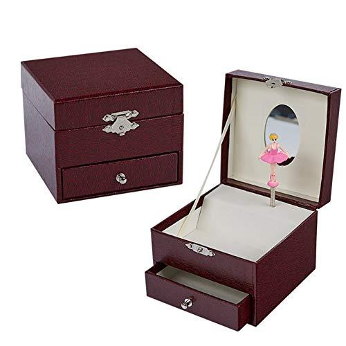 Cajas Musicales Caja de música azul caja de joyería hecha a mano azul caja de regalo cuadrado caja de embalaje Producto Producto Propuesta creativa Regalo de cumpleaños Navidad Decoración del hogar