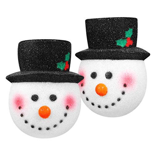 Amosfun - 2 coperture di luci natalizie per portico, decorazione per esterni, decorazione natalizia, pupazzo di neve, ideali per la decorazione standard della luce del portico
