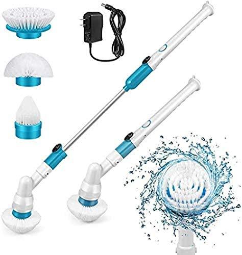 Lvcuyy Electric Cleaning Brush Electric Spin Scrubber 360 inalámbrico actualizado bañera y azulejos descrubber multifuncional con 3 cabezales reemplazables cepillo y 1 brazo de