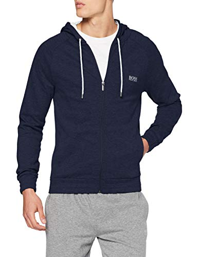 BOSS Cashmere Jacket Maglia di Tuta, Dark Blue405, XXL Uomo