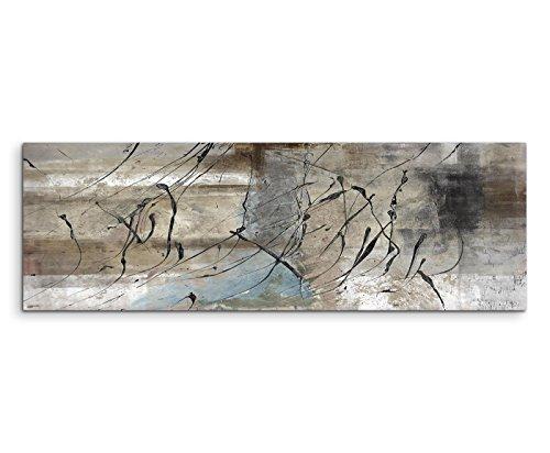Quadro astratto stampato, 150 x 50 cm, grigio beige nero