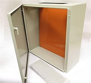 Yuco IP65 Enclosure, Nema 4, 16 Gauge, Single Door Hinge Cover, Wall-Mount, 2mm Backplate (24 x 24 x 8)