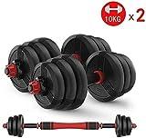 Rindasr Los Pesos Ajustables Mancuernas, Pesas Set Viaje Set Pesas for el músculo del Edificio de Cuerpo del Brazo de Fitness portátil de Viaje Pesas (Size : 5KGx2pcs)