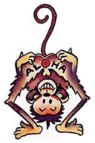 safety Aloha Hawaii Monkey Retro Vintage Souvenir Sticker Albuquerque Mall Skatebo Decal