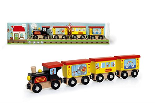 Scratch Preschool: Train Cirque 31x3.5x6cm, 4 pièces, en Bois, en Tube PVC, 3+