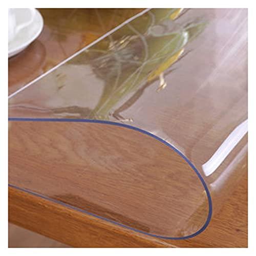 Protector Transparente XXIOJUN Protector de PVC Impermeable Mantel de Vidrio Suave Resistencia al Desgaste y a Altas temperaturas. para Mesa de Comedor, Estufa de Cocina