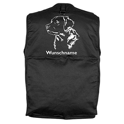 Tierisch-tolle Geschenke Golden Retriever - Hundesportweste mit Rückentasche und Namen (L)