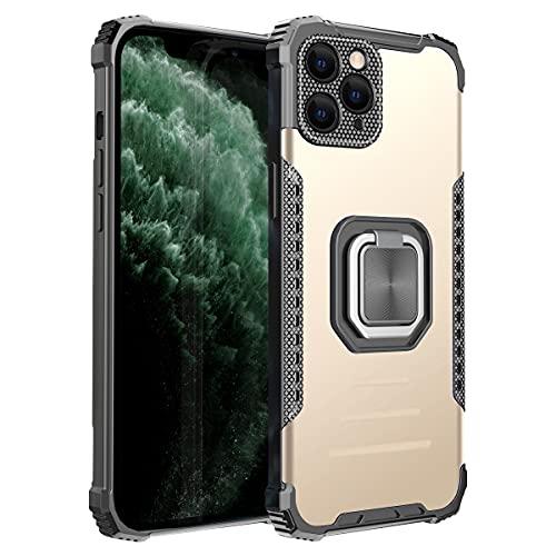 MOONCASE Funda para iPhone 11 Pro MAX, Funda de TPU Suave A Prueba de Choques Protección de Cámara Soporte de Metal Funda para iPhone 11 Pro MAX 6.5' (Dorado)