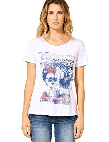Cecil Damen 315157 T-Shirt, White, X-Large