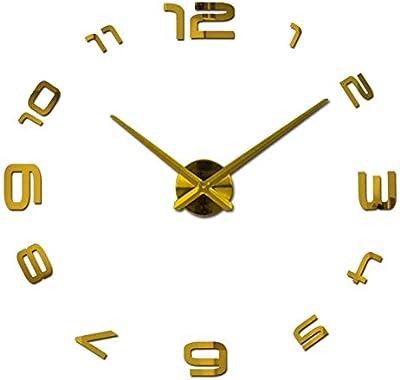Nazaka | Wall Clock | 1 Piece New Watch Clock Clocks Home Decoration klok miroir Large