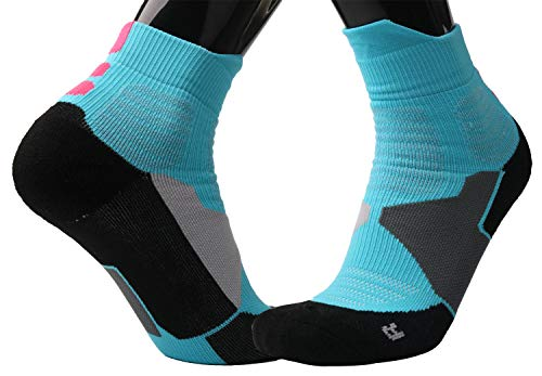 Mkkoluy Sky Blue Basketball Socks for Men Women Boys (2 Pairs)