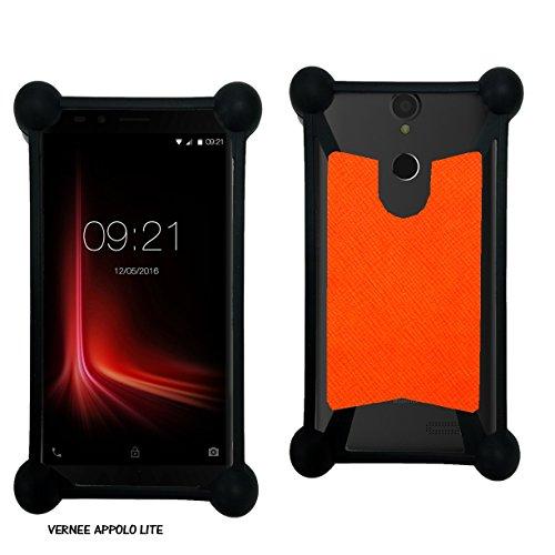 Case-Industry Mobilefashion Custodia Protettiva Case Cover per Vernee Apollo Lite - Esterno Modello Orange Collection Exception Cuoio PU