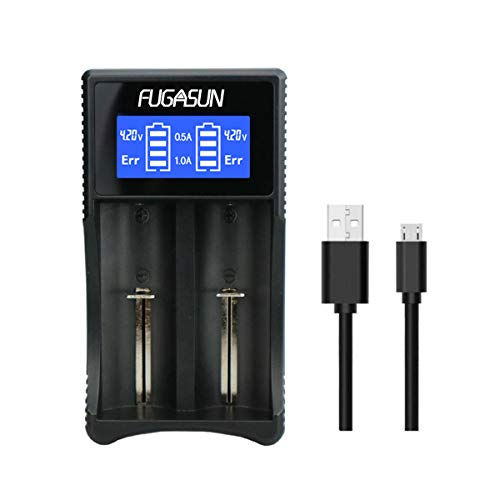 Universal 18650 Battery Charger,LCD Intelligent 18650 Li-ion Ni-MH Ni-Cd Battery Charger for 26650...