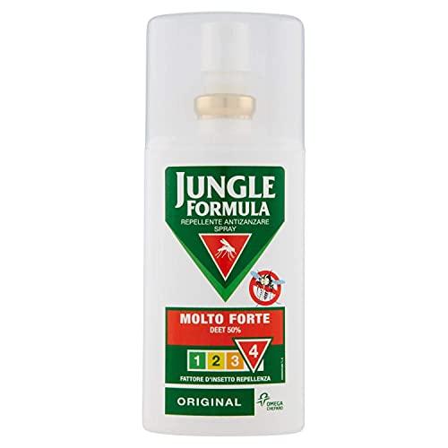 JUNGLE FORMULA Molto Forte Spray Antizanzare - Repellente per insetti con azione protettiva duratura - 9 ore di protezione - 75 ml