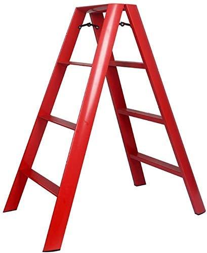 Haushaltsprodukte Klapphocker Aluminiumlegierung Leiter Haushalt Vierstufige Leiter Innenstühle Stabil Platz sparen Japanischer Stil J6T8D3 (Farbe: C)