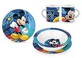 Star Licensing Set Pappa in Ceramica - Piatti e Tazza Disney Mickey Topolino