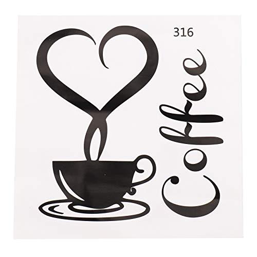 Viudecce 1X Pegatina De Taza De Café/Pegatina De Pared De Arte Ed Cocina para Decoración De Casa Pegatina De Pared Desmontable (B)