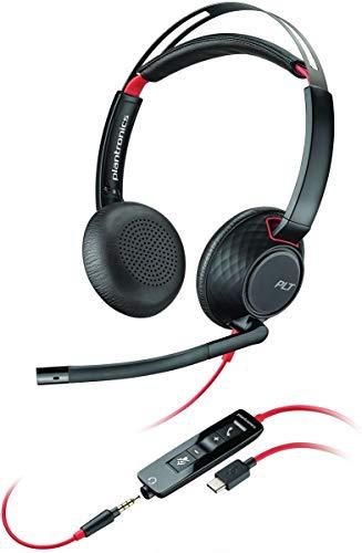 Plantronics Headset/Kopfhörer Blackwire C5220 binaural mit USB-C & 3,5 mm Klinke