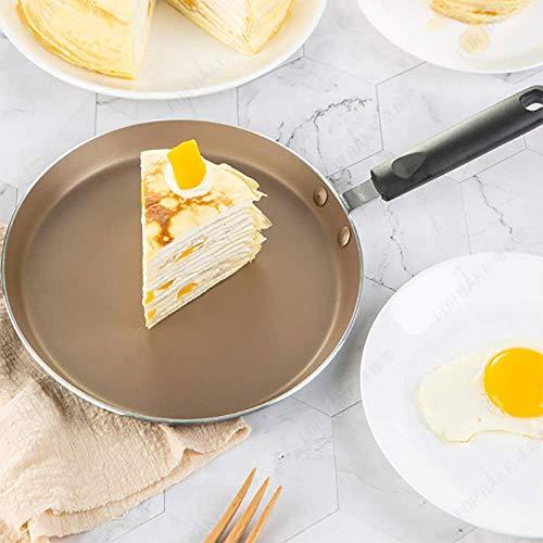 GPWDSN Kochtopf mit flachem Boden Antihaftpfanne Kochgeschirr Set Pfanne Kann Tausende von Schichten Kuchen, Pandan Steak, Pfannkuchen Bratpfanne geeignet Machen