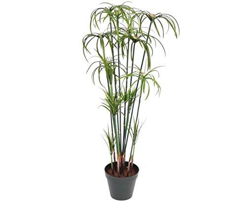 Papyrus Pflanze, Höhe 98cm und 225 Blätter, Kunstpflanze - künstliche Pflanze