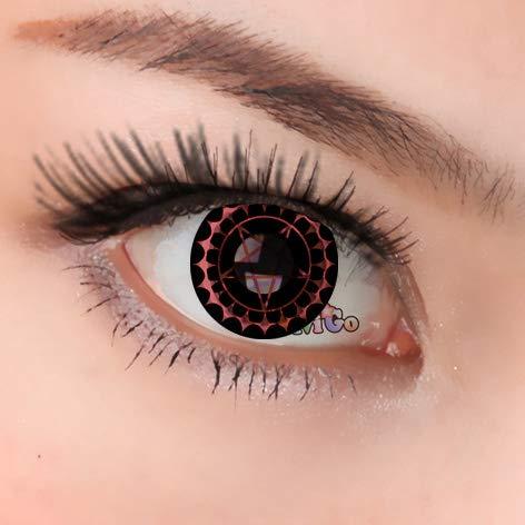 Farbige Weiche Kontaktlinsen Jahreslinsen Crazy Fun Perfekt zu Karneval, Halloween, Anime Rollenspiele,Fasching oder Fasnacht mit gratis Kontaktlinsenbehälter (1Paar =2 Stück) CIEL PINK CL243