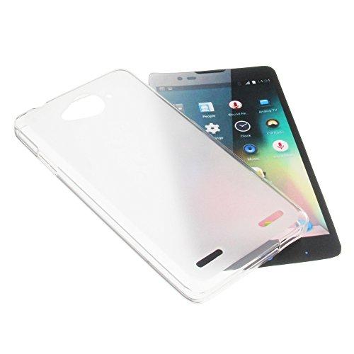 foto-kontor Tasche für ZTE Blade L3 Plus Gummi TPU Schutz Handytasche milchig transparent