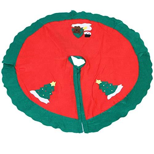 LYHY Tree Skirts Christmas Tree Skirt Christmas Tree Skirt, Christmas Apron, 90CM Christmas Supplies Old Man Tree Skirt Christmas Tree Skirts Home Seasonal Décor (Size : 90cm)