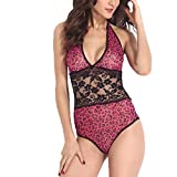 TheShoppingDiary Hot Pink Leopard Halter Teddy