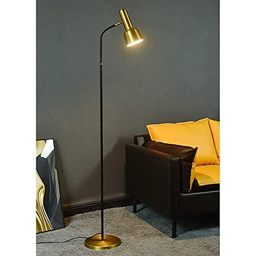 FYRMMD Lámpara de pie Moderna para Sala de Estar, lámpara Alta rústica con Cabezal de Metal Ajustable, 3 temperaturas de Color Reading Ta (lámpara de pie)