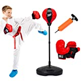 Product Image of the Costzon Kids Boxing Set, Height Adjustable Punching Ball Stand, Hand Pump,...