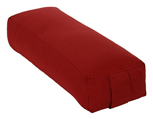 Yoga und Pilates Rechteckbolster/Yogakissen Made in Germany, Bordeaux