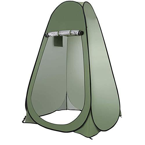 weichuang Außenzelt Fully Tent Automatische Öffnen Außendusche Baden Angeln Schwimmen Toilette Einfacher Wechsel Kleidung Vorhang Camping Stahldraht Zelt (Color : A Single Green)