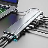 ドッキングステーション Type-C ハブ USBハブ 14 in 1 USB C ハブ 【magBac】(256GBSSD内蔵) デュアルスクリーン マルチディスプレイ 対応 USB3.0 256GB SSD内蔵 可能 TypeC アダプター 4K映像出力 3.5mmジャック HDMI SD MicroSD カードリーダー LANポート(1000Mbps) 100W PD充電ポート DP VGA ノートパソコン MacBook ChromeBook テレワーク 在宅