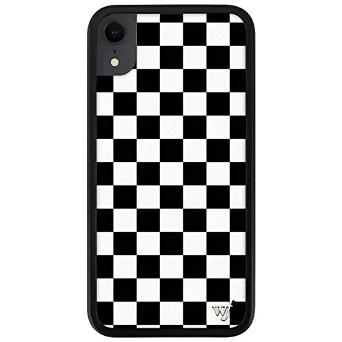 Wildflower Limited Edition Cases for iPhone XR (Black Checkers)