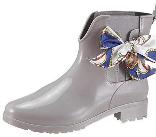 TOM TAILOR für Frauen Schuhe Kurze Gummistiefel mit Schleife lt.Grey, 40