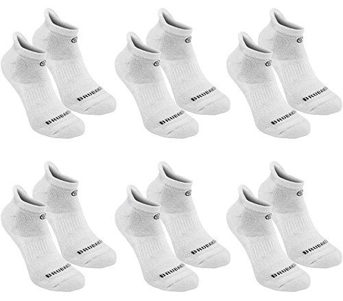Brubaker Sneakers, 6 stuks, functionele sokken met zachte hielklep voor sport, hardlopen, mountainbiking