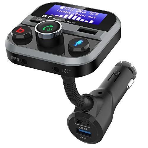 Bluetooth Auto FM Transmitter, Doosl Autoladeadapter 3 Port- 1.7