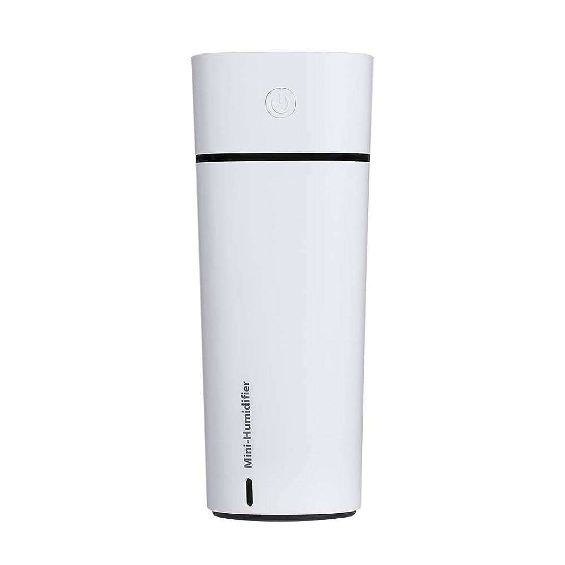 キャラクターリッチ麻痺Dayman 3 in 1 USBポータブル空気加湿器クーラー、ミニファン、空気清浄機のリフレッシュ、自然な美しさのために水分補給、ノイズフリーのアンチドライテクノロジーデスク加湿器車のトラベルオフィスの寝室のホテル、240ML / LEDライト、屋内&屋外 (白)