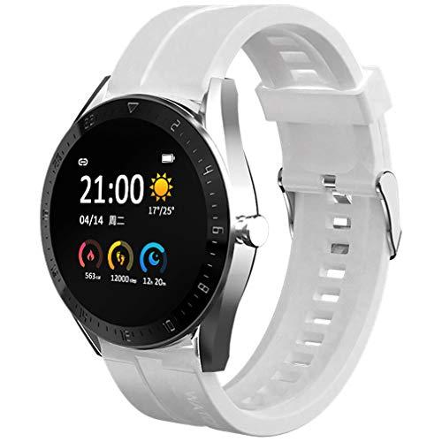 sqmanqi Smartwatch para Hombre Mujer, Pantalla Táctil de, Reloj Inteligente Pulsera de Actividad Inteligente, Monitor de Sueño con Pulsómetros Cronógrafo Caloría Podómetro Fotografía Remota