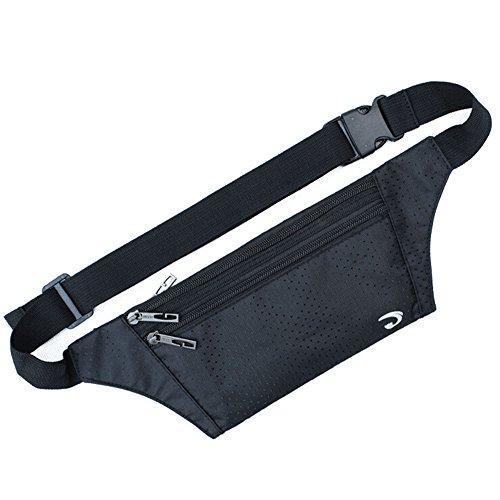 Naoki Outdoor Sports Running & Jogging & Travel Waterproof Utralthin Waist Pack/Bag Runner Belt