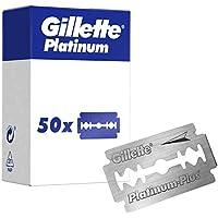 Gillette Platinum, Cuchillas de afeitar de doble filo para maquinillas de afeitar clásicas, 50 recambios