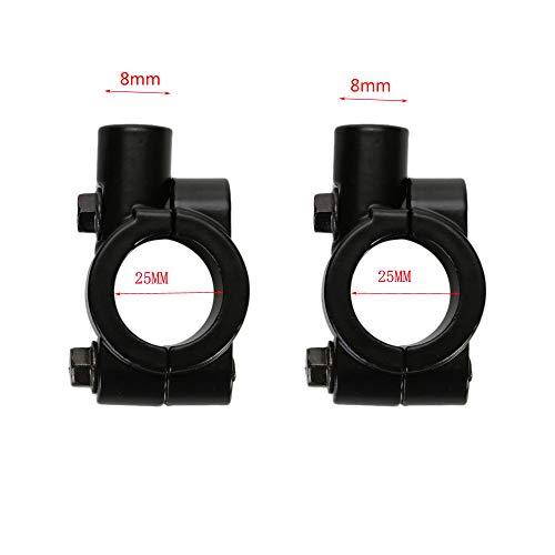 Paar Universal 8mm Motorrad Spiegel Halter Für 25mm Lenker Schwarz