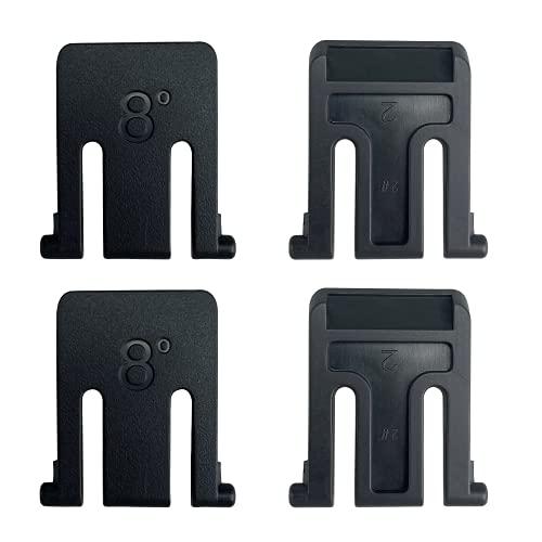 4 piezas soporte de teclado soporte de teclado patas soporte de teclado kit de reemplazo para teclado Logitech K200 K260 K270 K275.
